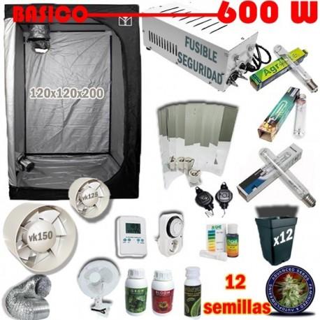 Kit Cultivo Básico Armario 600W