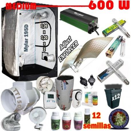 Kit Cultivo Medium Armario 600W