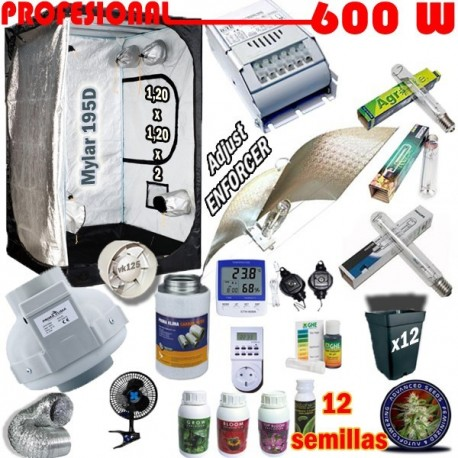 Kit Cultivo Profesional Armario 600W