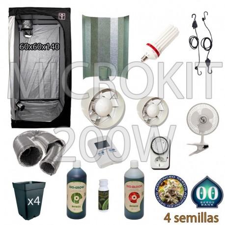 Kit Cultivo CFL 200W Armario