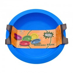 Oil Black Leaf Silly Silicone Plate